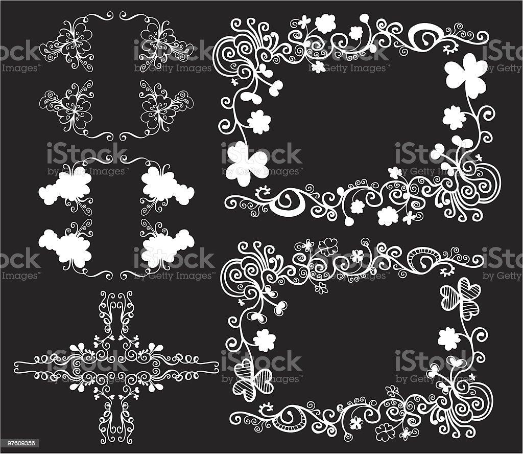 floral design elements royaltyfri floral design elements-vektorgrafik och fler bilder på art déco