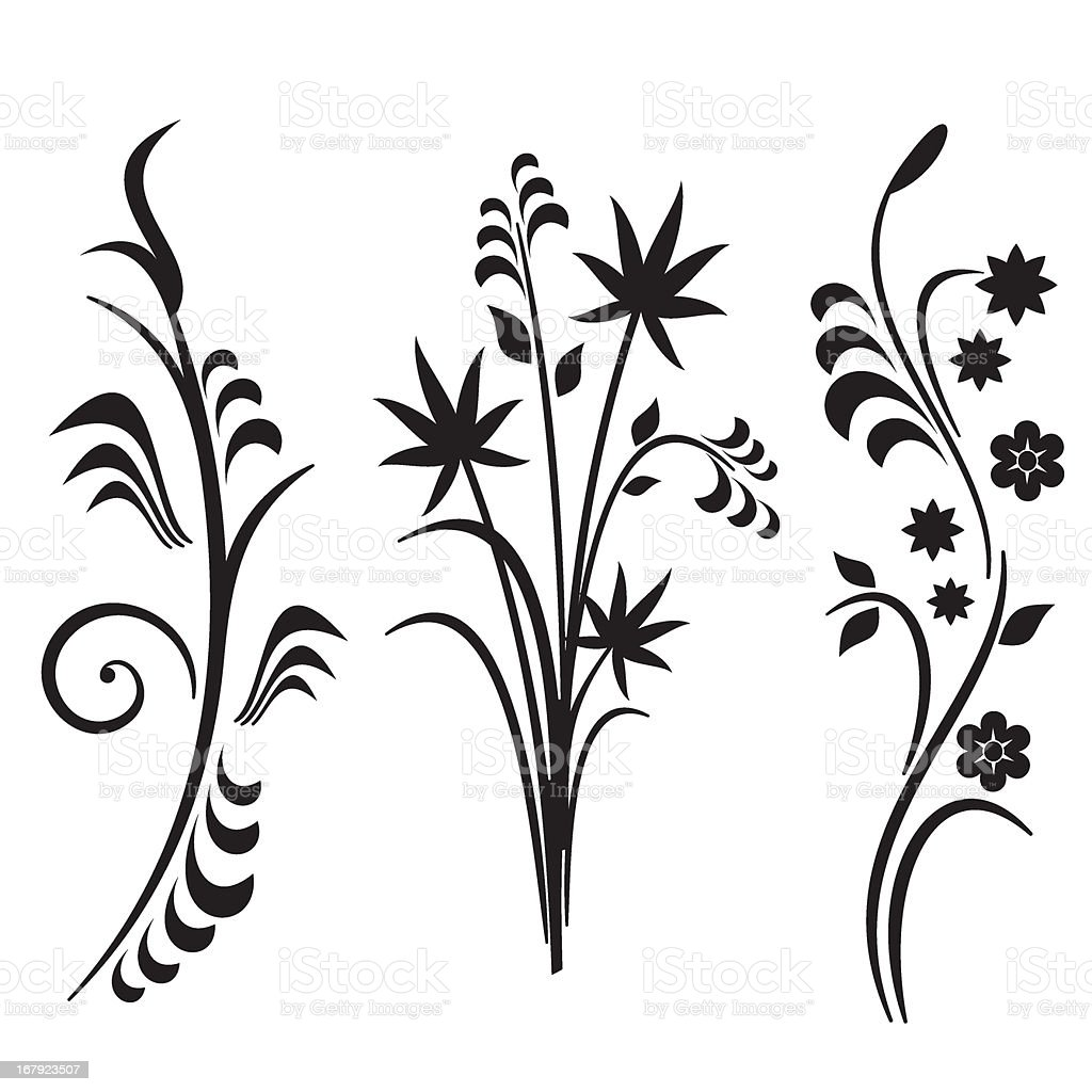 Floral Art Line Design : Floral design series japanese style stock vector art