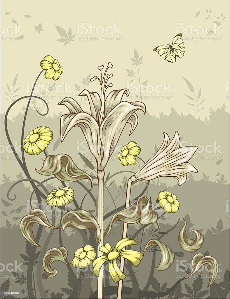 Floral Design. royalty-free floral design stock vector art & more images of animal themes