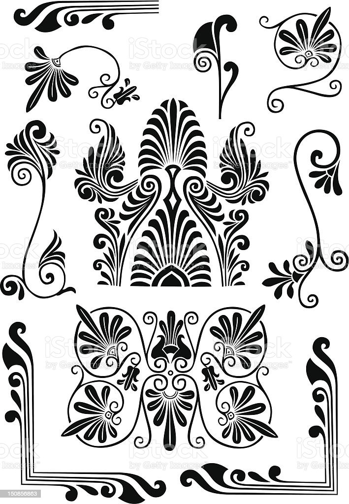 Design florais - ilustração de arte em vetor