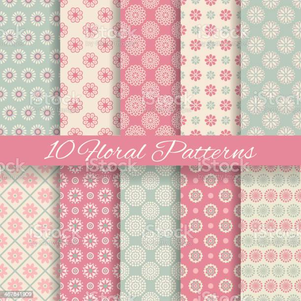 Floral different vector seamless patterns vector id467841909?b=1&k=6&m=467841909&s=612x612&h=pjfmt8pubkw3ckpryclro4iwhpz0jltmqhqeipyyn2k=