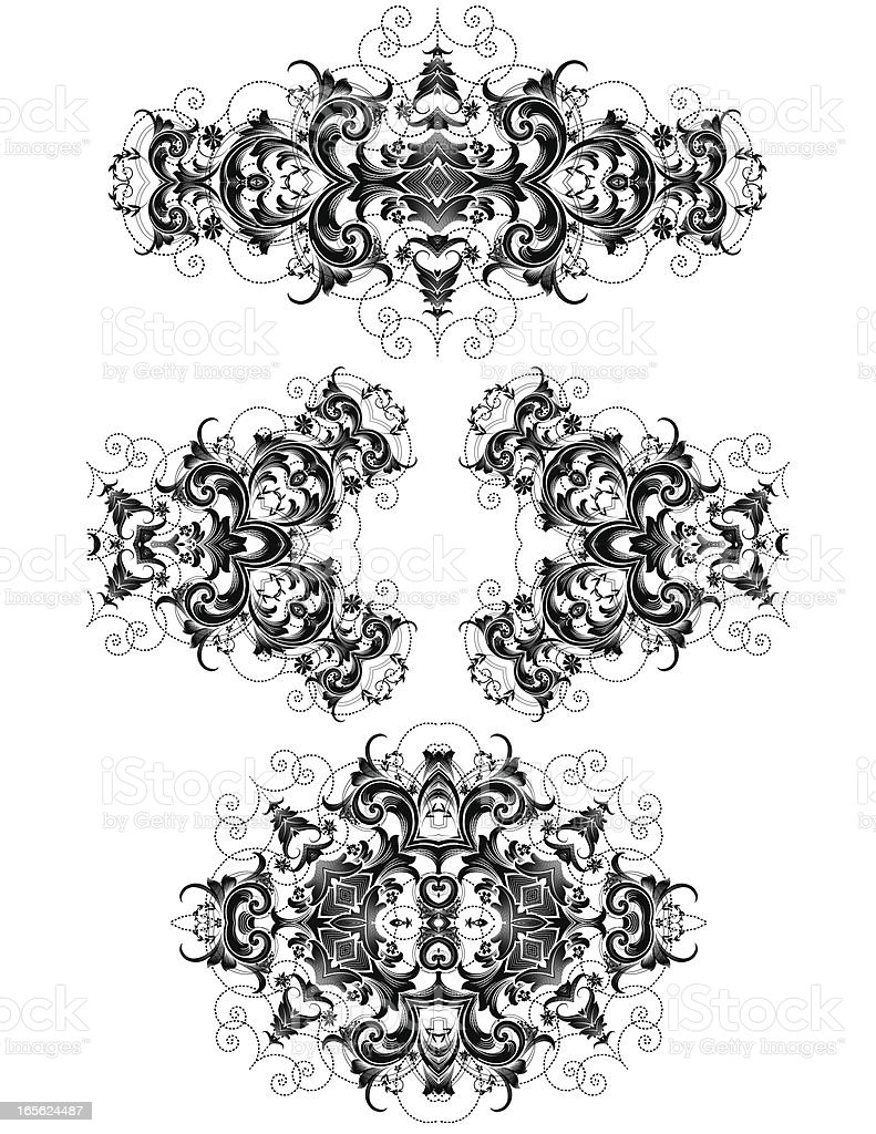 Floral Divider Set hand engraved scrollwork swirls royalty-free floral divider set hand engraved scrollwork swirls stock vector art & more images of 2000-2009