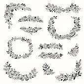 Floral Doodle Decor Set