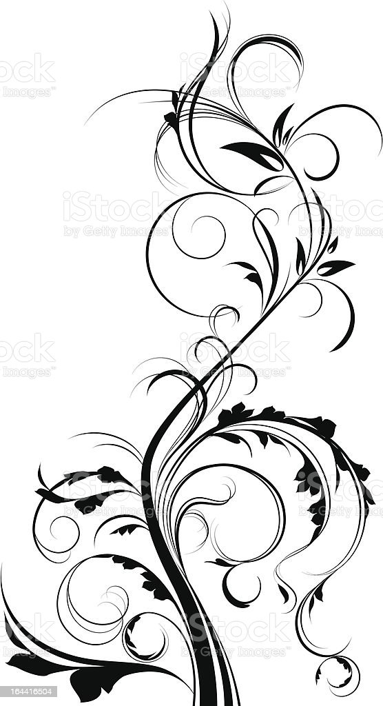 Floral element. royalty-free floral element stock vector art & more images of abstract