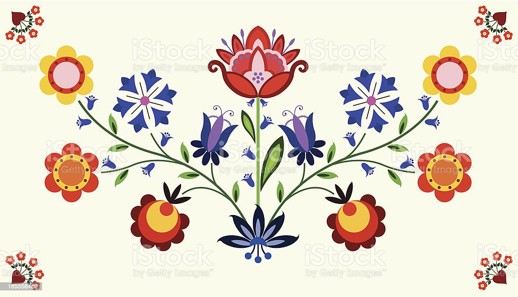 Floral element vector art illustration