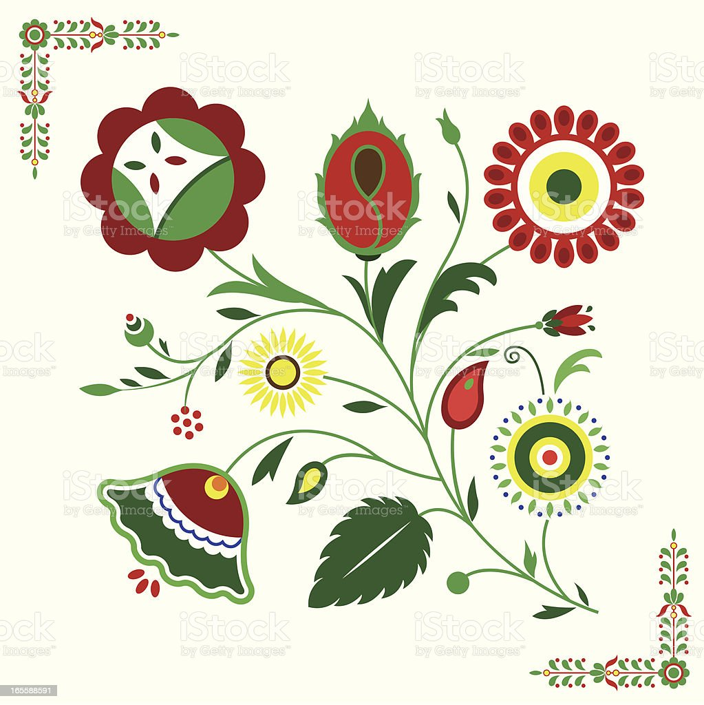 Floral element royalty-free floral element stock vector art & more images of abstract
