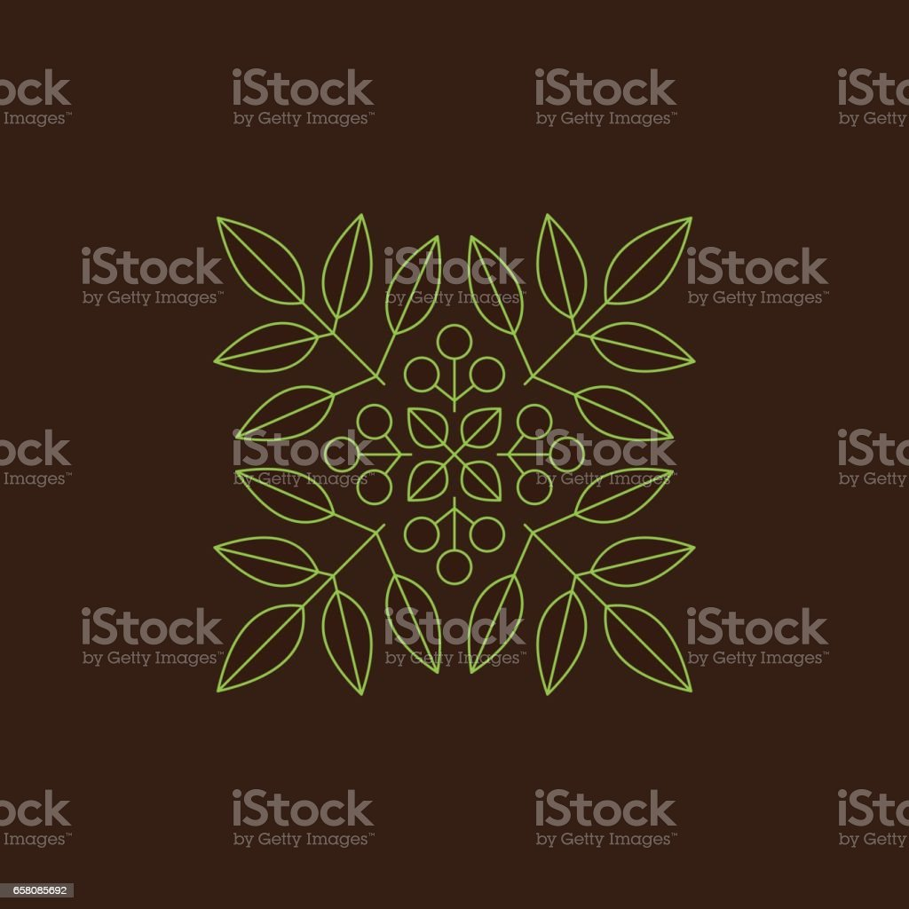Floral Element. Vector Printing for Natural Products. Linear Style. royalty-free floral element vector printing for natural products linear style stock vector art & more images of abstract