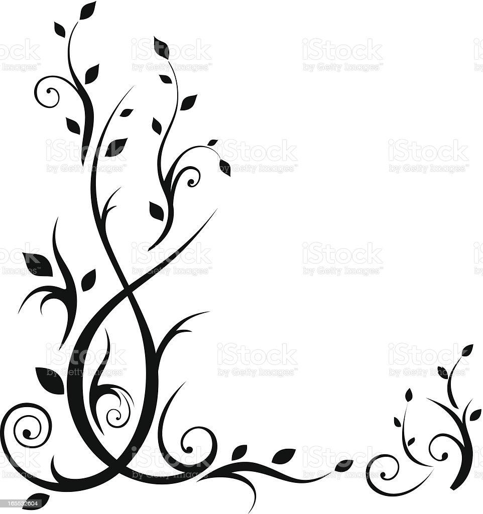 Floral Elements vector art illustration