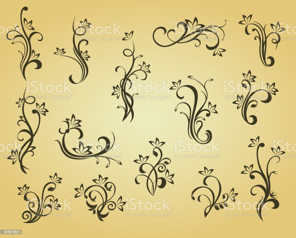 Floral elements royalty-free floral elements stock vector art & more images of color image