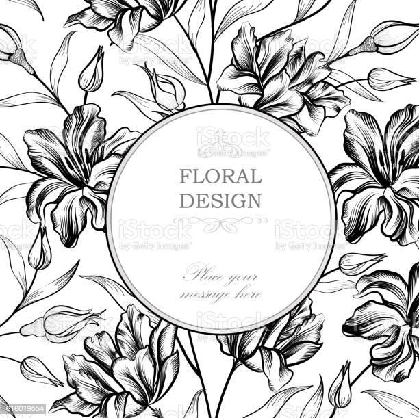 Floral engraving background greeting card with flower flourish circle vector id616019554?b=1&k=6&m=616019554&s=612x612&h=wvuyvohup u cjnvkkhg70sjpscrycg12im8mtd9fvy=