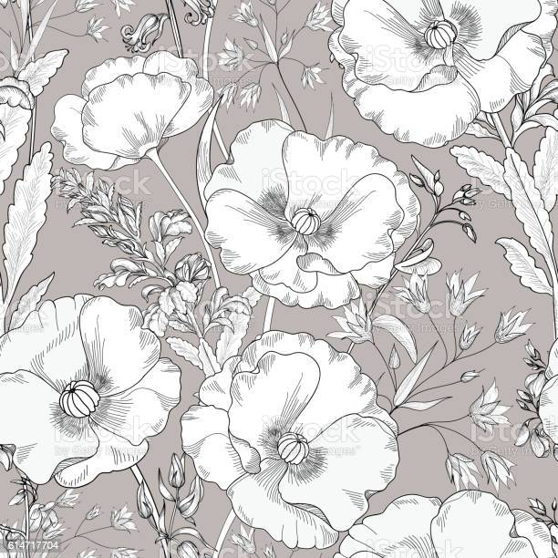 Floral engraving seamless pattern flower background vector id614717704?b=1&k=6&m=614717704&s=612x612&h=56mcmpsf1ohdzdnvhl o1amhedk9amkjfyyjfjqx3ac=