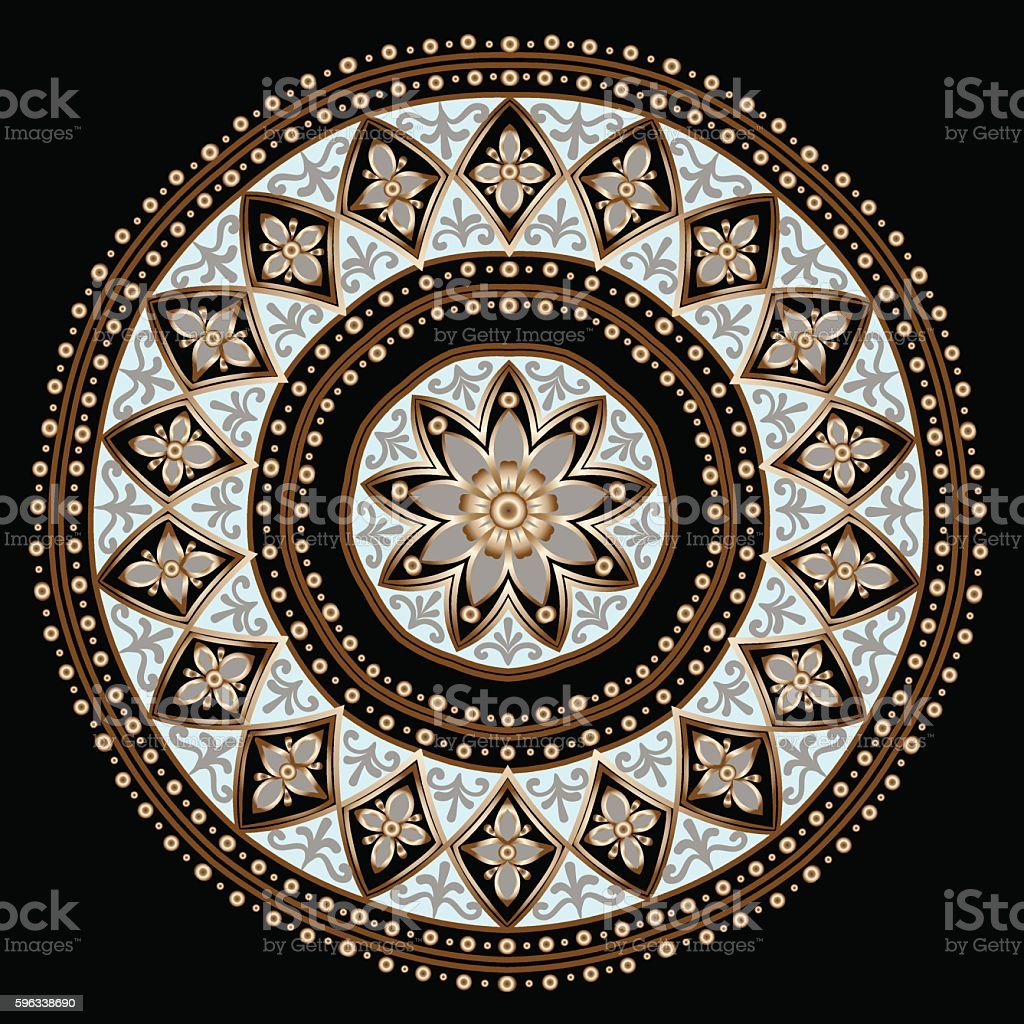 floral ethnic mandala royalty-free floral ethnic mandala stock vector art & more images of abstract
