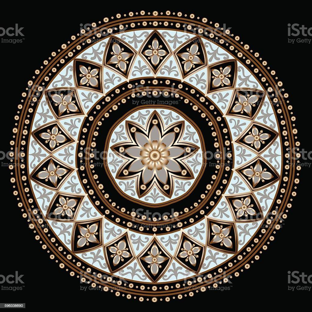 Ethnische mandala Blumenmuster Lizenzfreies ethnische mandala blumenmuster stock vektor art und mehr bilder von abstrakt