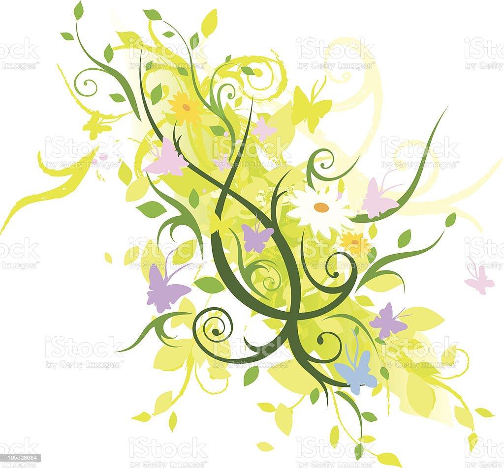 Floral Explosion vector art illustration