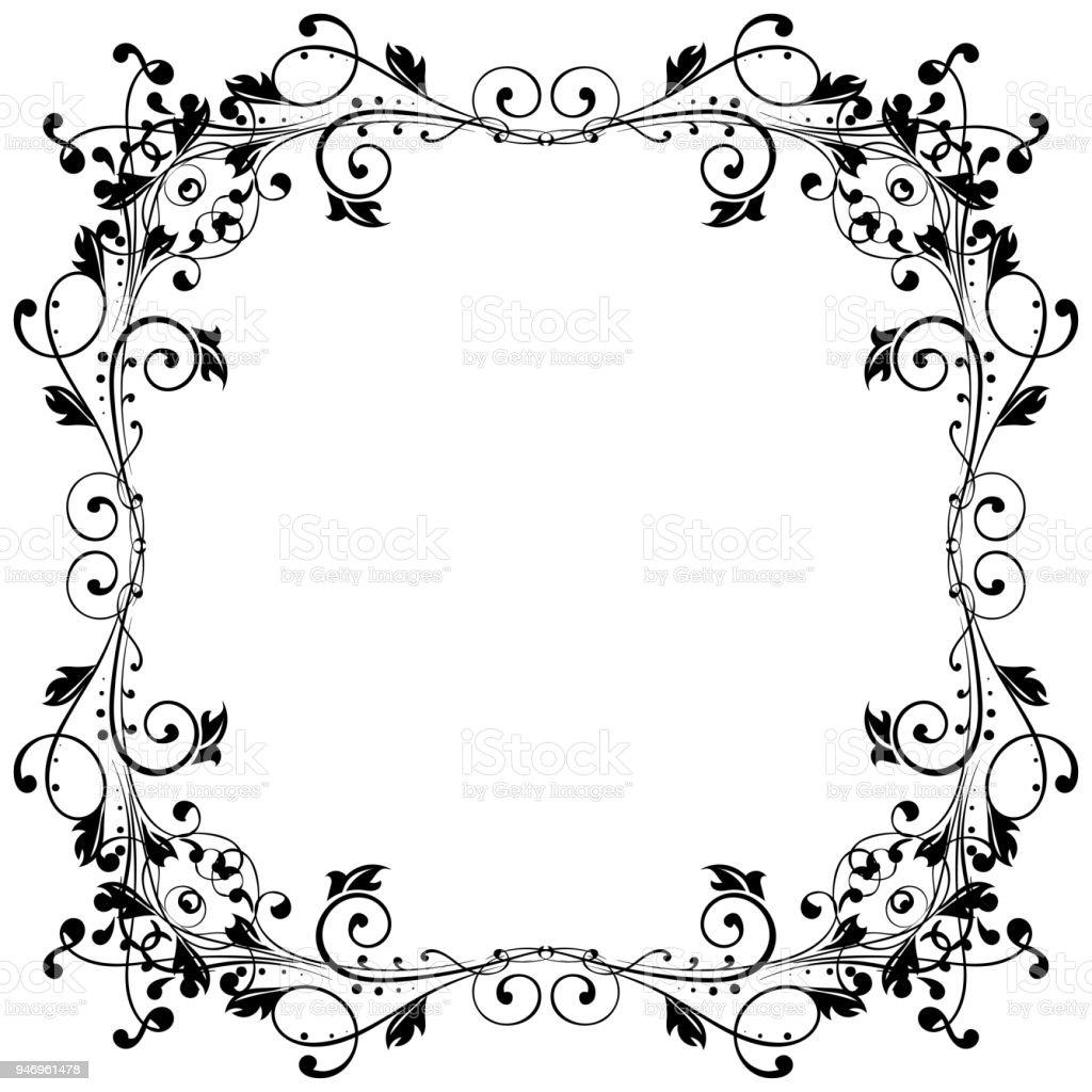 Floral Filigree Frame Stock Vector Art & More Images of Art ...