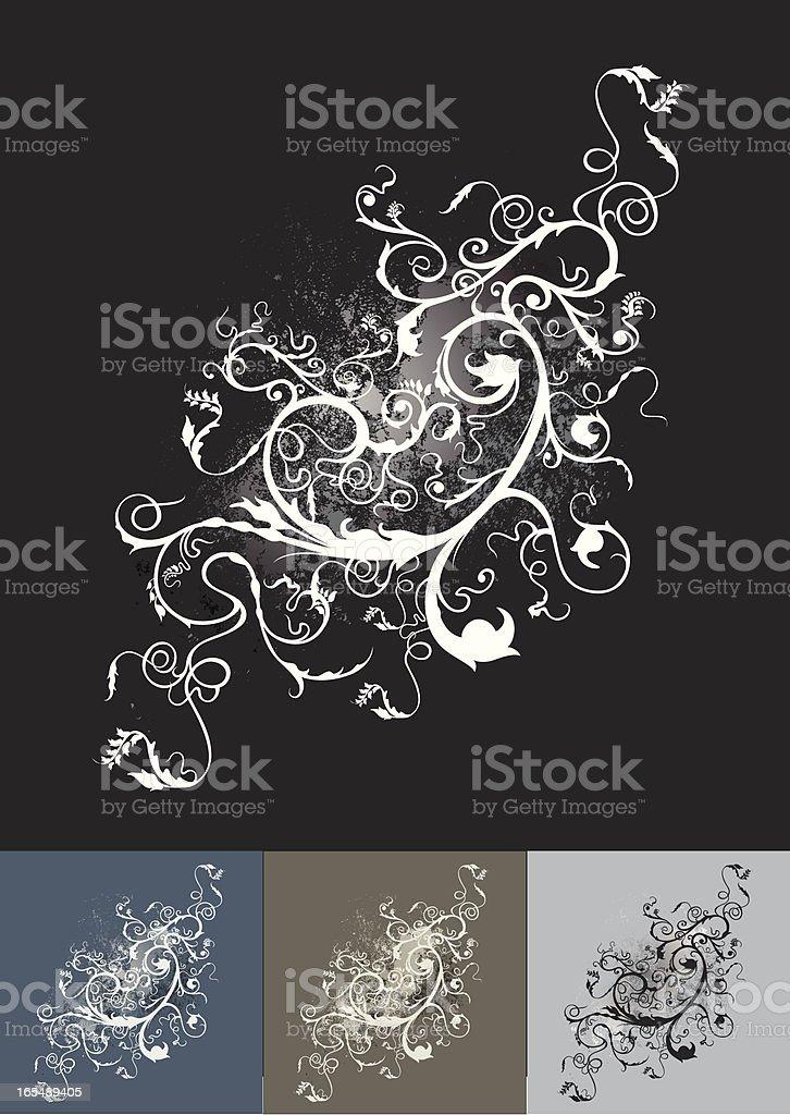 floral flourish royalty-free stock vector art