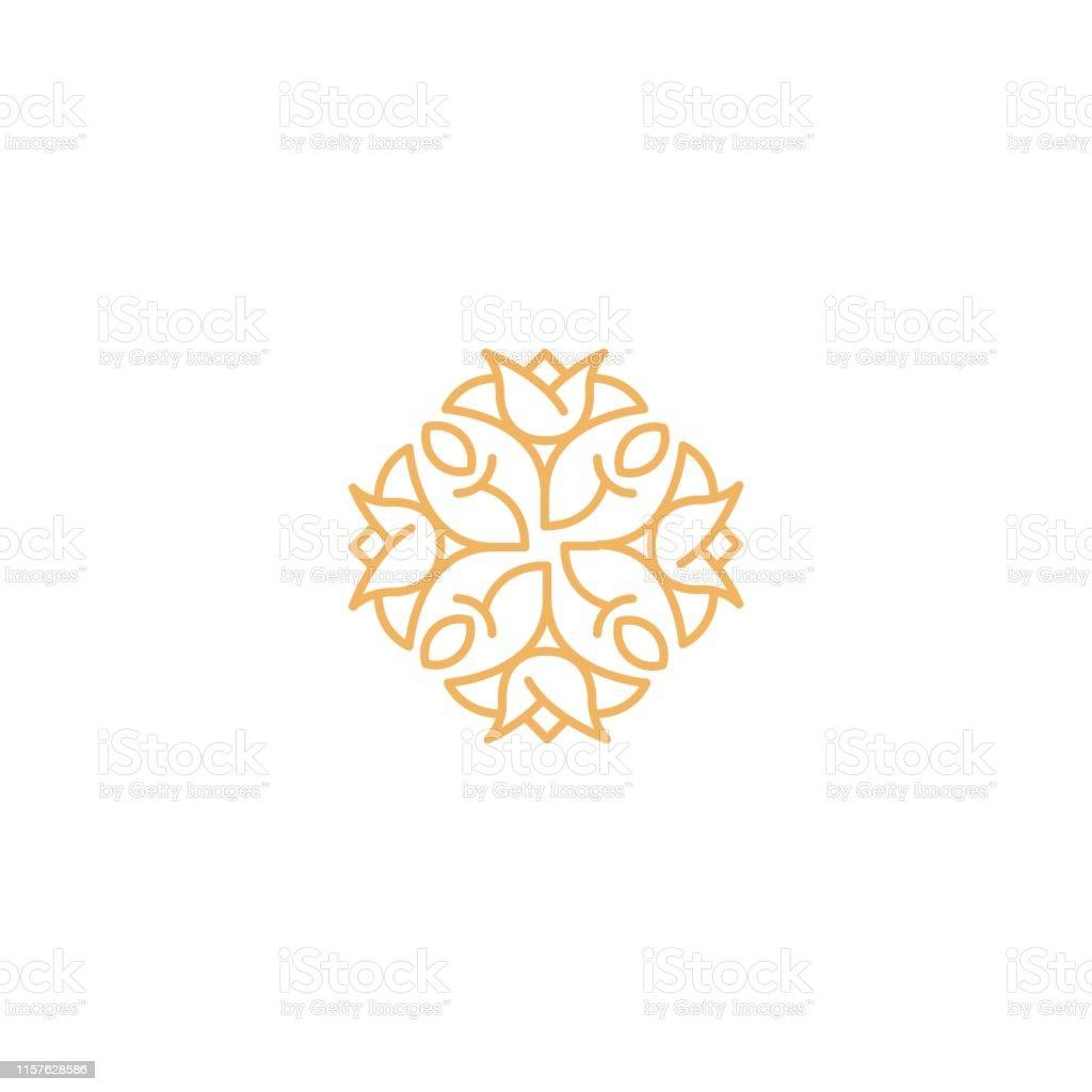 Emblème Floral De Fleur Pour Le Luxe Royal Boutique Et Spa