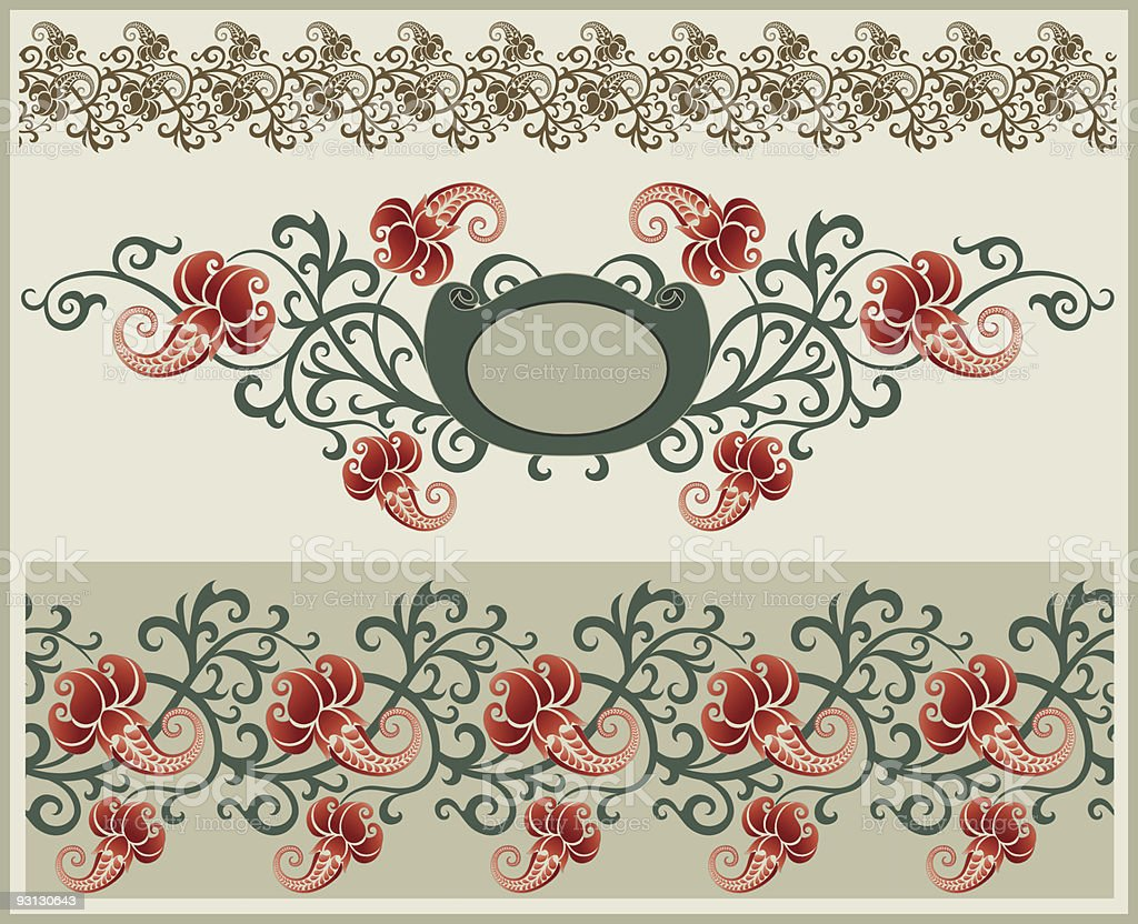 Floral frame and border royalty-free floral frame and border stock vector art & more images of abstract