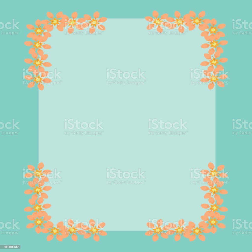 Floral frame background vector art illustration