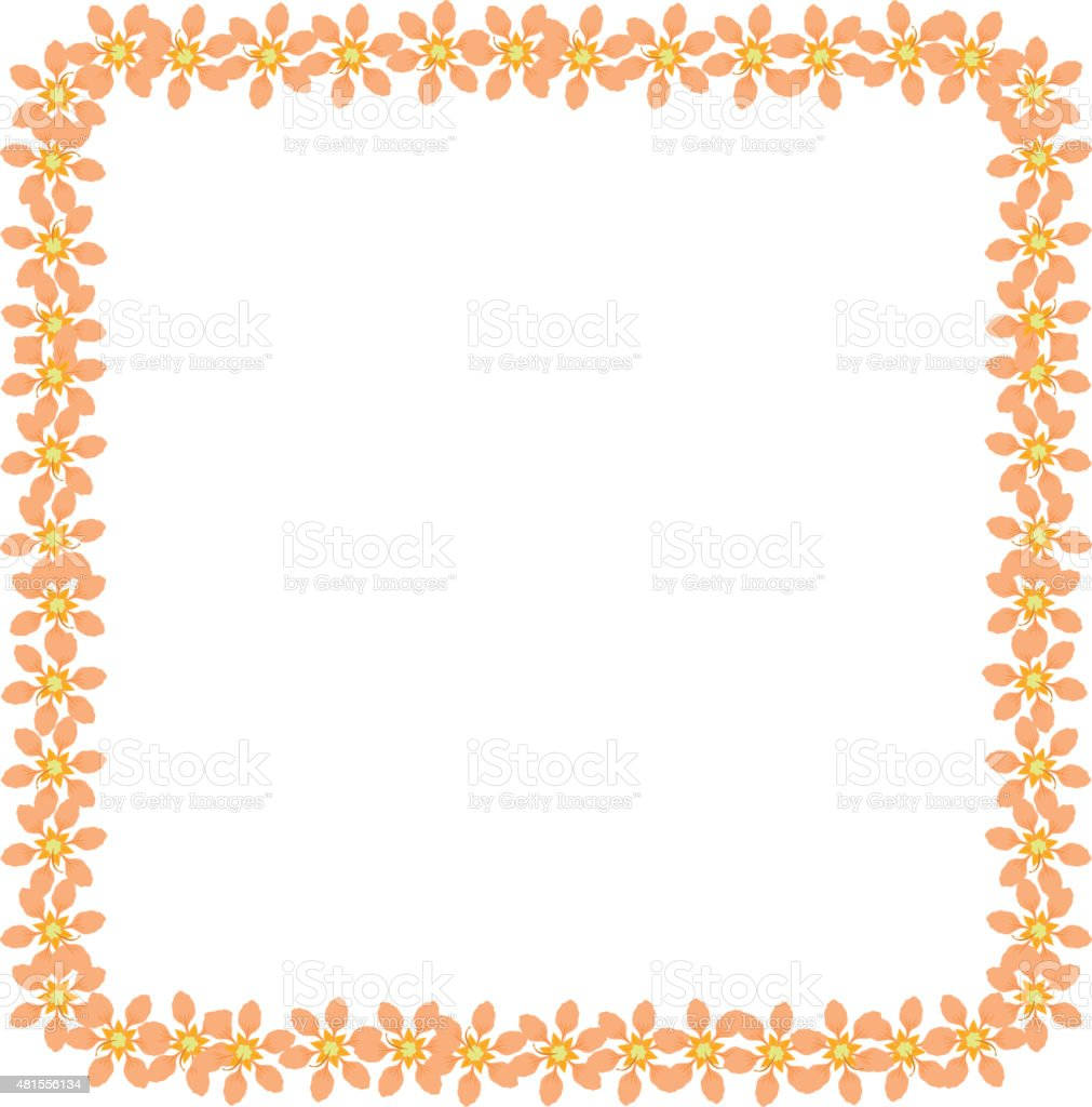 Floral frame background. vector art illustration