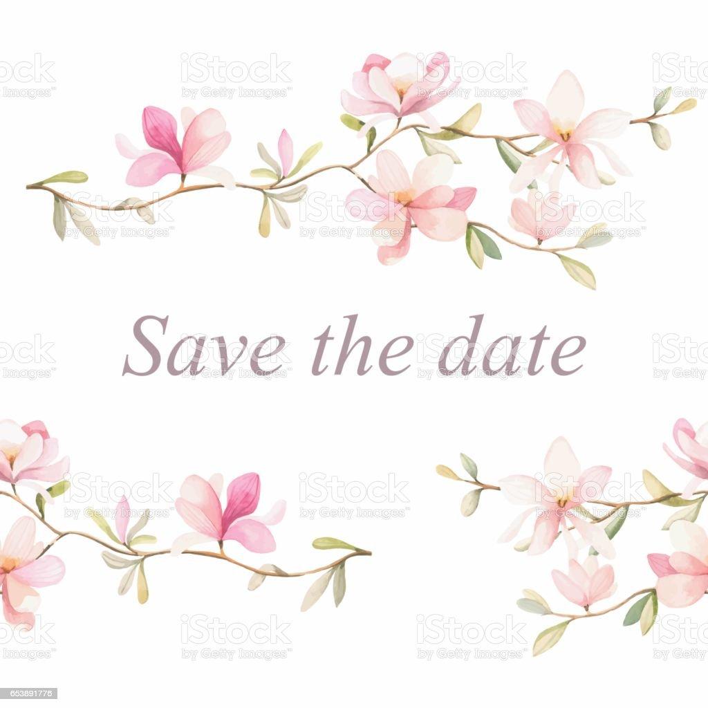 Floral frame background - illustrazione arte vettoriale