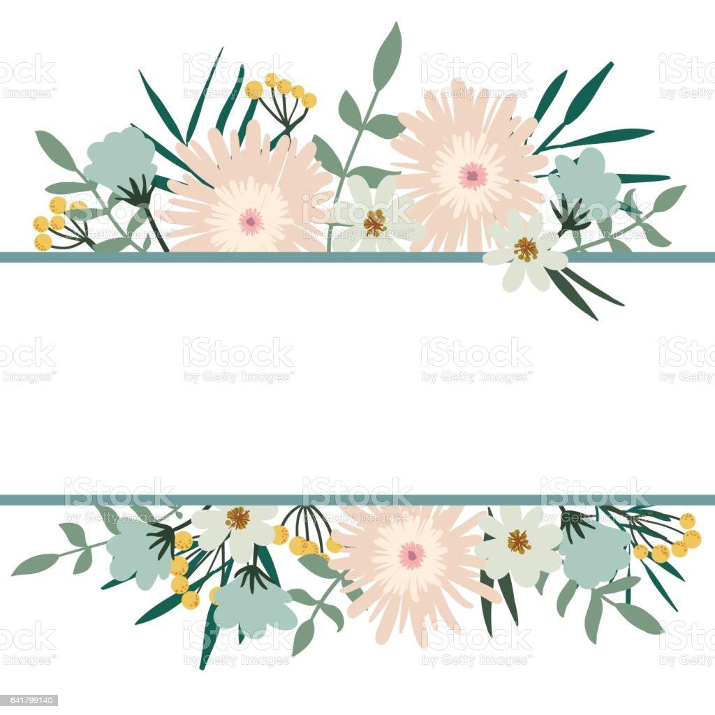 花卉的框架花花束復古封面蓬勃發展卡 向量插圖及更多 插圖 圖片 641799140 Istock