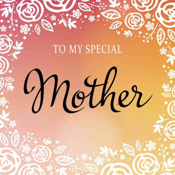 stockillustraties, clipart, cartoons en iconen met floral frame for mother's day - westers schrift