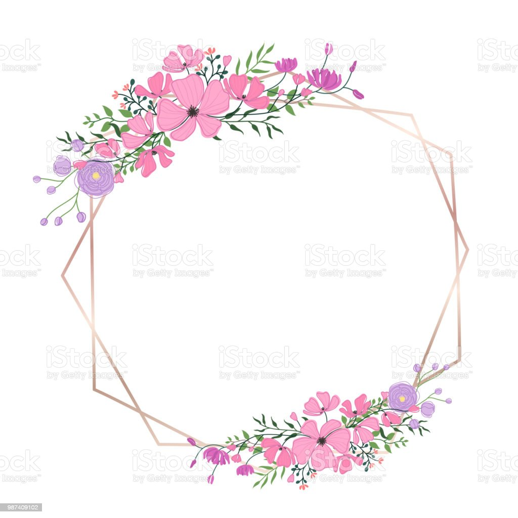 Floral Frame For Wedding Invitation Greeting Card Design Banner And