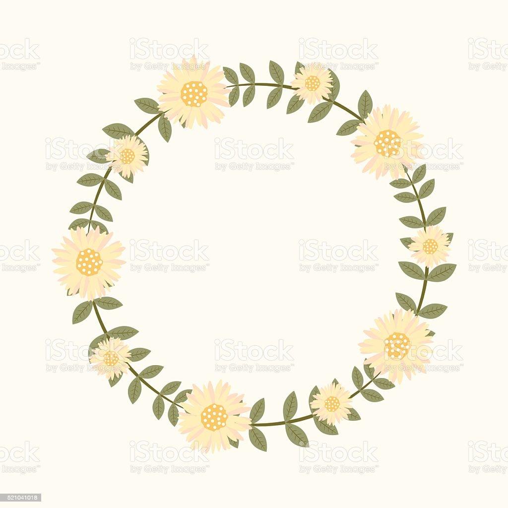 ilustración de marco de flores para invitaciones de boda y tarjetas