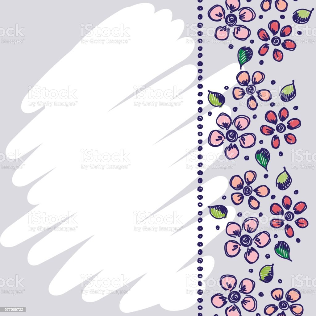 Floral frame. Hand drawn roses and leaves Vector design. Hand sketch line drawing. Decorative card with space for text. Artistic drawing Series of Cards, Blanks and Forms, Template. royalty-free floral frame hand drawn roses and leaves vector design hand sketch line drawing decorative card with space for text artistic drawing series of cards blanks and forms template stock vector art & more images of art