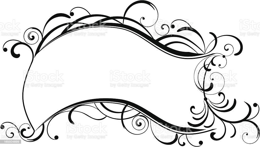 Floral frame IX royalty-free stock vector art