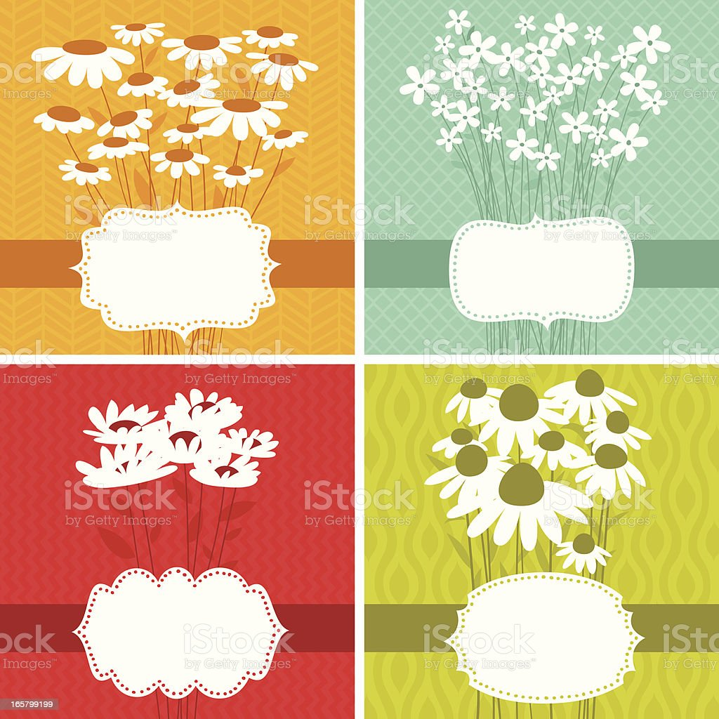 Floral frame set of four. EPS8 royalty-free floral frame set of four eps8 stock vector art & more images of abstract