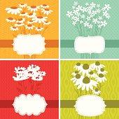Floral frame set of four. EPS 8.