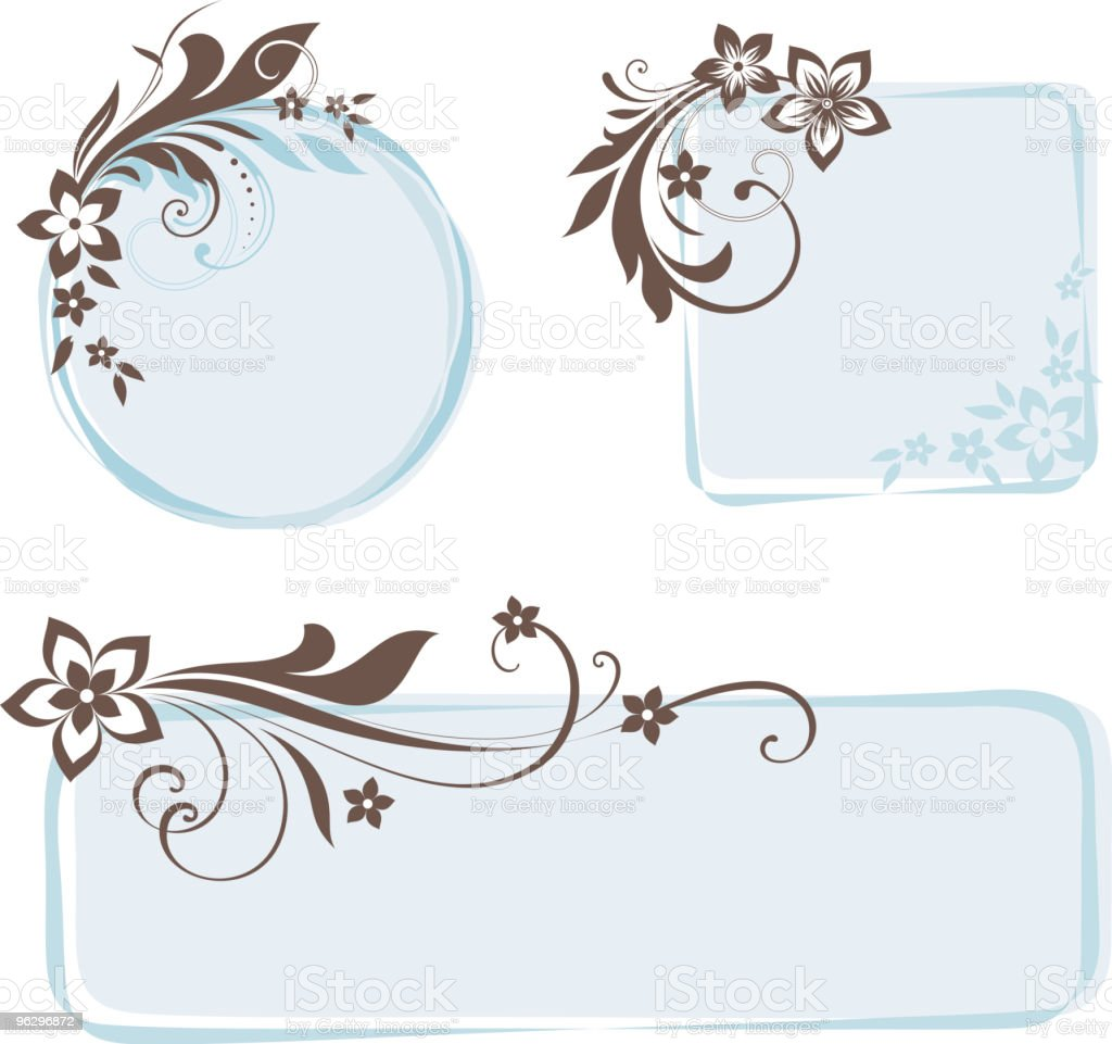 floral frame set royalty-free stock vector art