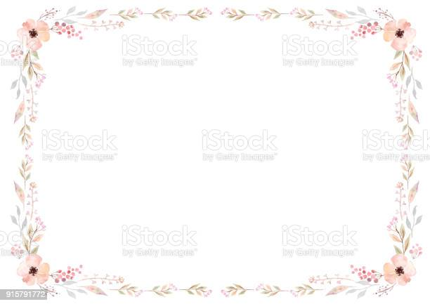 Floral frame template with pink flowers and swirly leaves on white vector id915791772?b=1&k=6&m=915791772&s=612x612&h=w0j9fkrx49bv kx36vddxkmanivzjv832dsqyftj4fa=