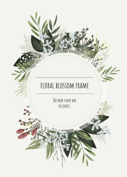 Floral frame. Floral frame for invitation cards and graphics. wedding invitation stock illustrations