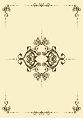 Retro floral frame, element for design, vector illustration.