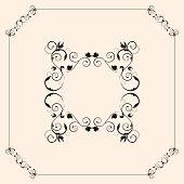 floral frame ,extra files; ai,pdf,png,hi-res jpeg