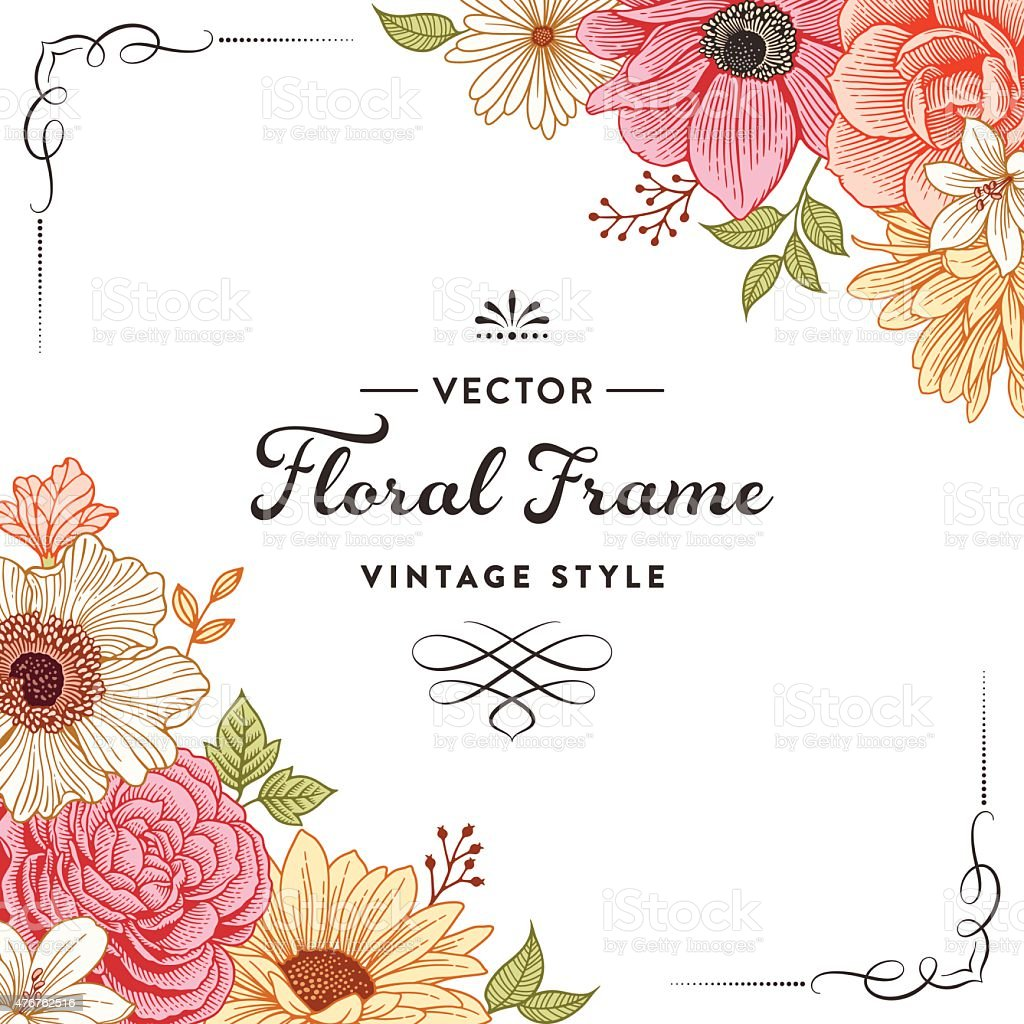 floral frame stock vector art amp more images of 2015