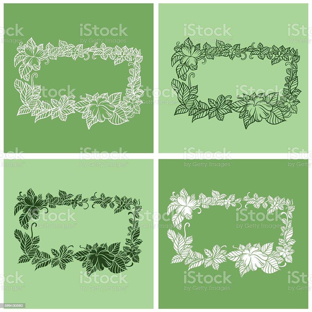 Cadre Floral.   - Illustration vectorielle