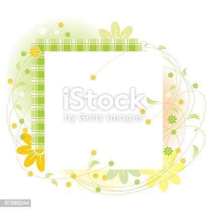 Floral Frame Stock Vector Art & More Images of Abstract 97995044