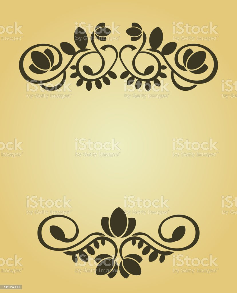 Floral frame royalty-free floral frame stock vector art & more images of brown