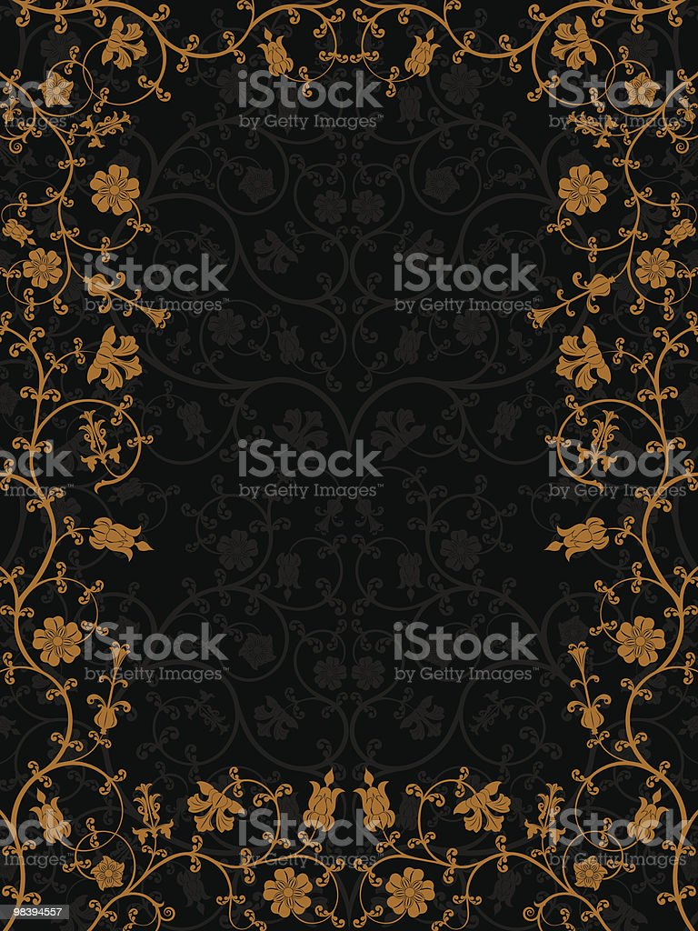 Floral frame royalty-free floral frame stock vector art & more images of black color