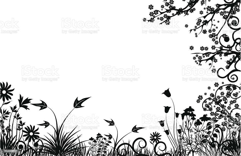 Floral frame, vector royalty-free stock vector art