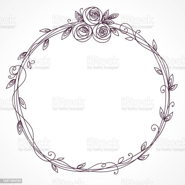 Floral frame with bouquet wreath of rose flowers vector id1037484294?b=1&k=6&m=1037484294&s=612x612&h=vkwesbis2ydfter2qzmkjmmyh0y1shbv8mf04xmsr2e=