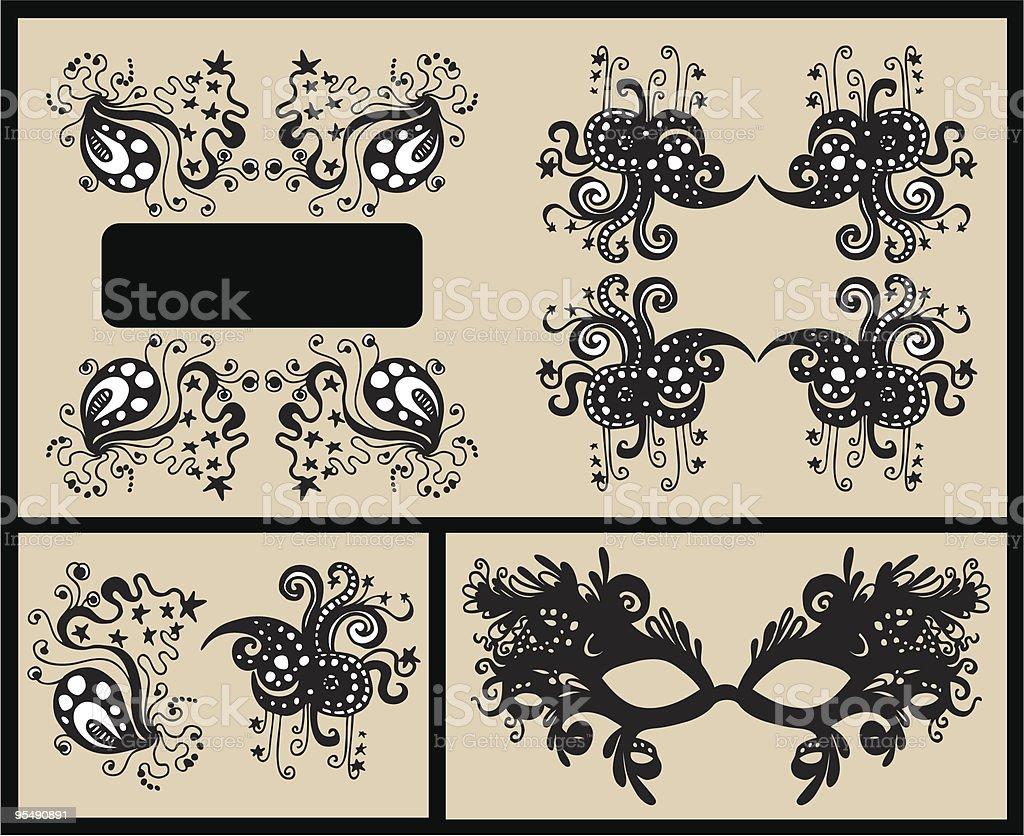floral frames for text vector art illustration
