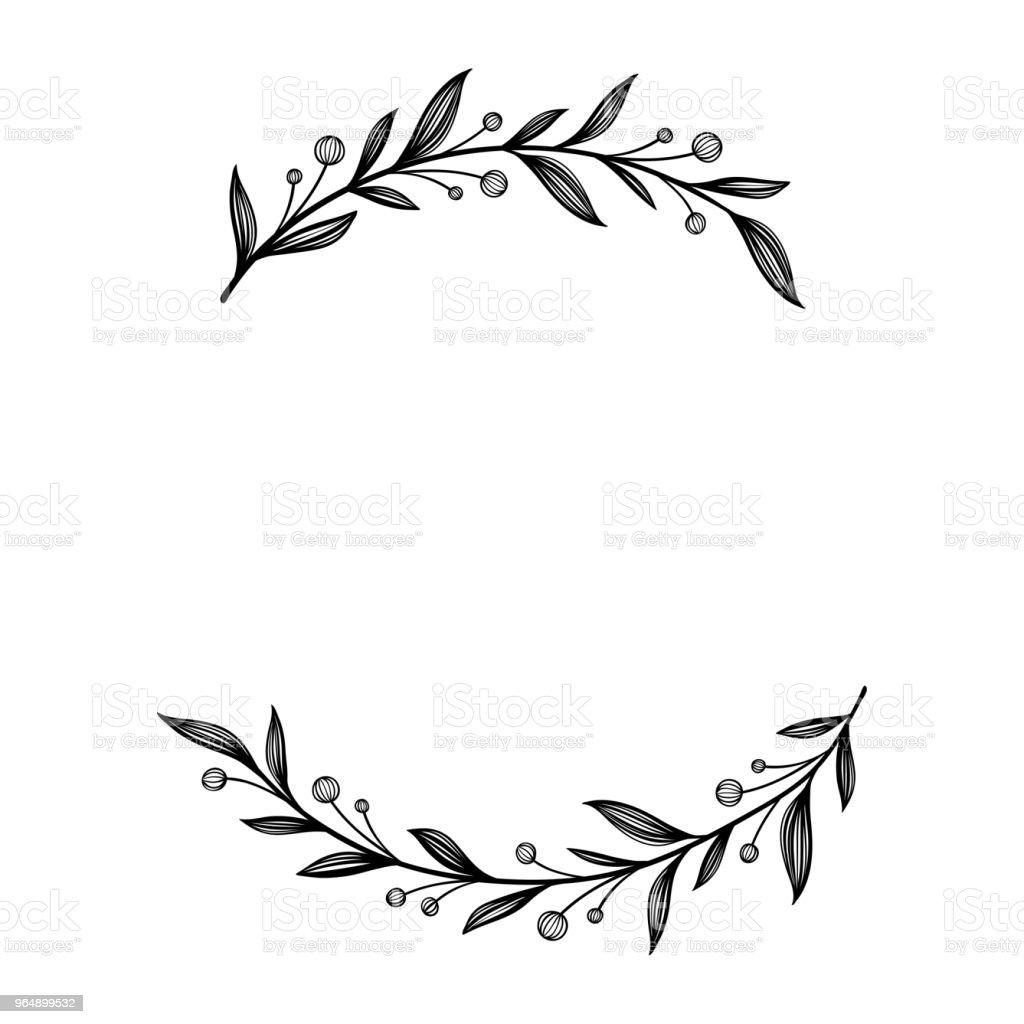 Floraler Rahmen Einzigartiger Dekoration Für Grußkarte ...
