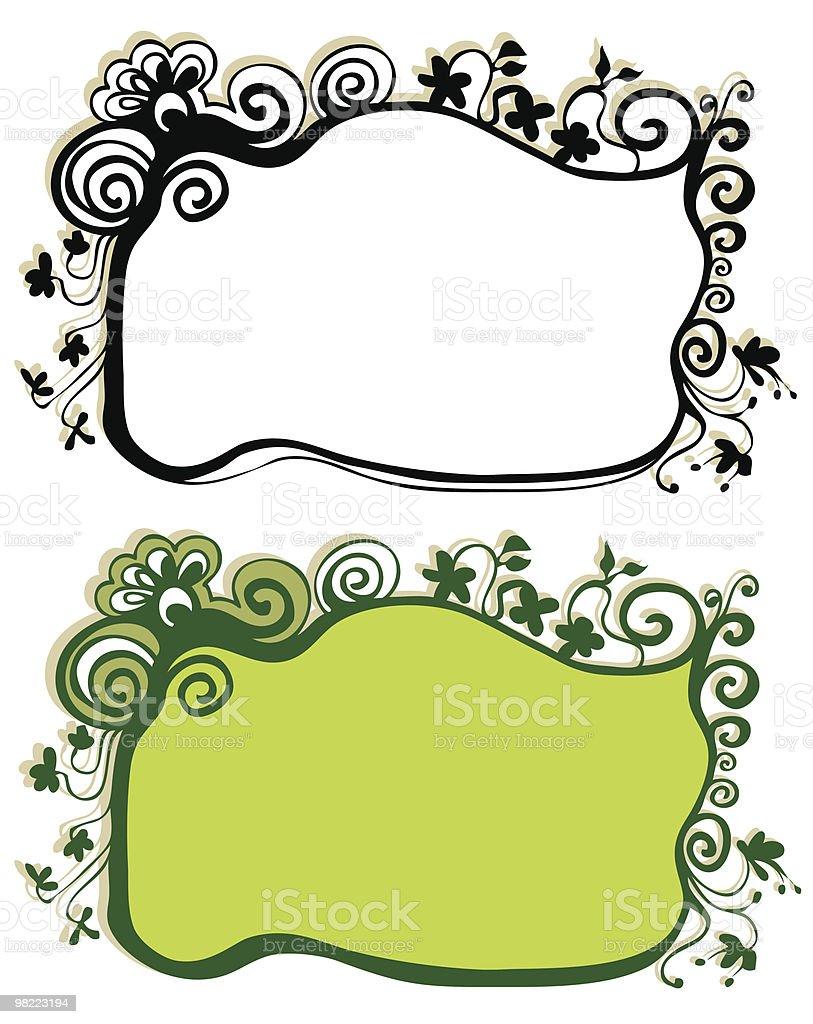 floral frames vector art illustration