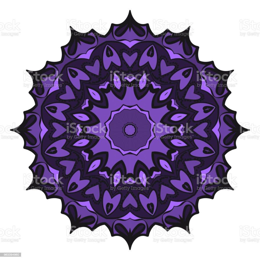 Floral Geometric Pattern with hand-drawing Mandala. Vector illustration. For fabric, textile, bandana, scarg, print. - Grafika wektorowa royalty-free (Abstrakcja)