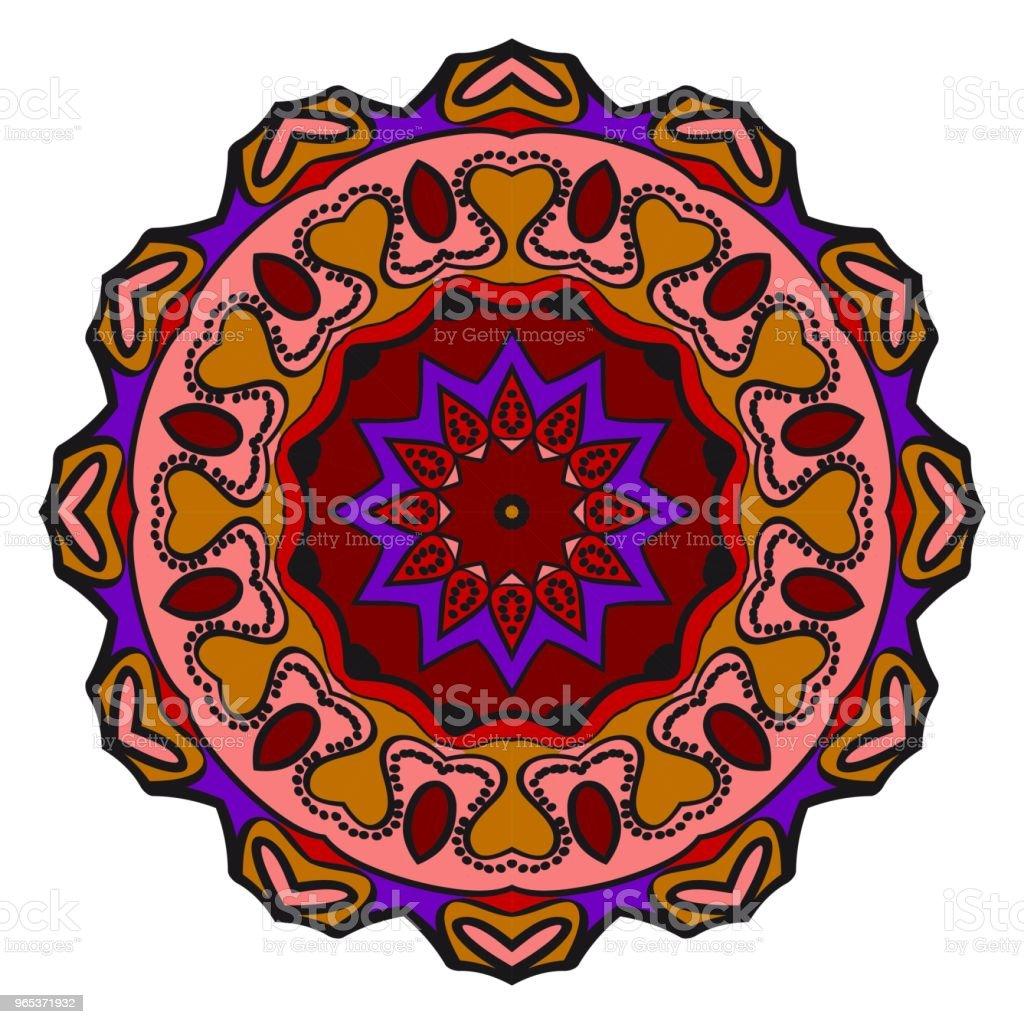 Floral Geometric Pattern with hand-drawing Mandala. Vector illustration. For fabric, textile, bandana, scarg, print. floral geometric pattern with handdrawing mandala vector illustration for fabric textile bandana scarg print - stockowe grafiki wektorowe i więcej obrazów abstrakcja royalty-free